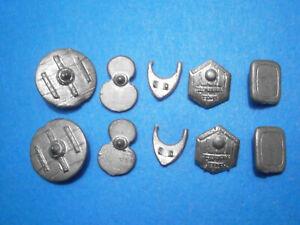Minifigs Miniature Figurines Shields (10). 1970s/80s Metal