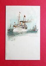 Künstler Litho AK SCHIFFE 1898 S.M. Yacht Hohenzollern    ( 37965