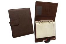 A5 PVC ring Binder suitable for standard filofax size Cognac  colour