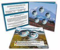 Deutschland 5 x 5 Euro 2020 Subpolare Zone Klimazonen der Erde Mzz A-J im Folder