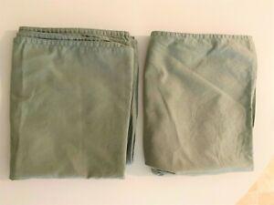 Pair of plain pastel green pillow cases, H&M 80 x 50 cm 100% cotton