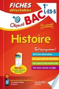 Objectif Bac Fiches Détachables Histoire 1ères L/Es/S - LIVRE - NEUF