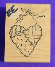 HEART ON A STRING RUBBER STAMP BY IMAGINATIONAL F792