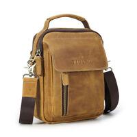 Vintage Men Leather Shoulder Bag Messenger Bag Business Sling Bag Office Satchel