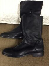 Eileen Fisher Size 9.5  Nova Classic Motor Boots, Black Leather MSRP $279