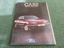 Dec 1985 FORD ALL MODEL CATALOGUE Fiesta Escort Capri Sierra Granada UK BROCHURE