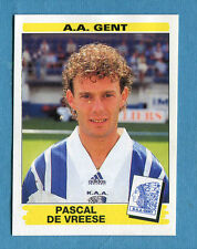 FOOTBALL 96 BELGIO Panini -Figurina-Sticker n. 157 -P. DE VREESE-A.A. GENT-New