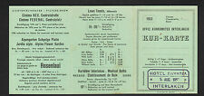 "INTERLAKEN (SUISSE) Carte d'abonnement ""HOTEL BAVARIA"" en 1953"