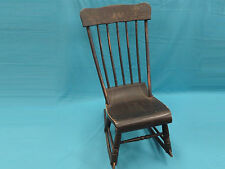 ANTIQUE 19 c AMERICAN / NEW ENGLAND ATTRIB. STENCILED ROCKING CHAIR