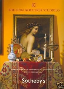 Sotheby's Catalogue Luigi Koelliker Studiolo 03/12/2008