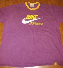 NIKE SPORTSWEAR retro ringer XL tee Los Angeles purple yellow trim T shirt
