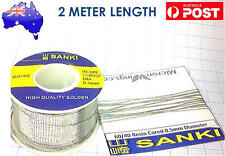Sanki Solder 0.5mm 2 Meter Length 60% tin 40% lead resin core