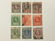 old stamps  GOLD COAST   x  9
