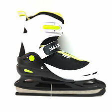 M&L Sport Kid Eislauf Schlittschuhe größenverstellbar 34-37 verstellbar Freizeit