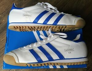 Mens Adidas Rom City Series MMXIX Trainers in UK 9.5 in White / Blue Trim.
