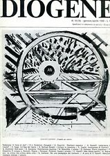 DIOGENE n° 55/56 1968 Falabrino Guerrini Castelli Faggi Solinas Donghi Toschi