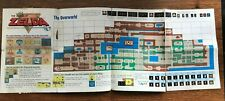 Legend of Zelda Map Strategies Foldable Poster NES Nintendo Manual Only