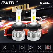 Pair H4 9003 HB2 1300W 195000LM Car Fanless LED Headlight CREE Kit 6000K White