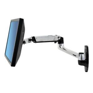 NEW Ergotron LX Wall Mount Single Monitor Arm, Max 24 inch Displays