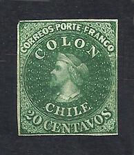 CHILE - COLUMBUS - Yv 10 Sofich 12 FG 20 - 1, 4 margins  M no Gum
