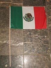 "12x18 12""x18"" Mexico Mexican Stick Flag wood staff"