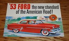 1953 Ford Car Sales Brochure 50th Anniversary 53 Mainline Customline Crestline