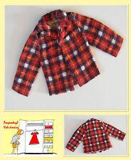 VINTAGE chemise en flanelle pour BARBIE PETRA TRESSY ou autre poupée mannequin