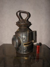 antique railway BELT patrol lantern old LAMP HANDHELD OIL LANTERN Blens ullseye