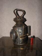 antique railway BELT patrol lantern old LAMP HANDHELD OIL LANTERN Blens ullseye