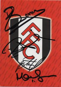 HAND SIGNED Fulham postcard 5 signatures