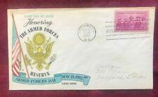 JOHN'S DEALS - US - 1955 FDC SC #1067 ARMED FORCES RESERVE - FLUEGEL
