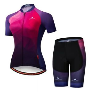 Women Cycling Jersey Set Road Bike Bicycle Clothing Set Size S Chest 33.8''
