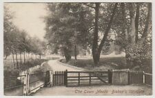 Hertfordshire postcard - The Town Meads, Bishops Stortford - P/U 1906