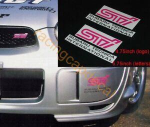 "5.75""146mm Fog Lamp Cover Decal Sticker for sti my 98 99 impreza wrx GDB C D GC8"
