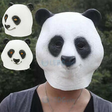 Creepy Panda Head Mask Latex Animal Costume Prop Style Toys Halloween Party NEW