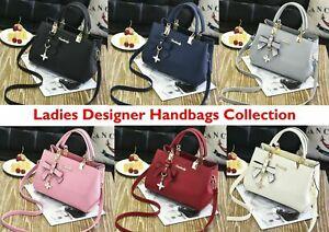 Ladies Handbag Designer Leather Tote Girls Purse Cross Body Bag Zip Lotus 78801