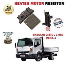 FOR NISSAN CABSTAR TRUCK F24 2.5TD 3.0TD 2006- NEW HEATER MOTOR RESISTOR