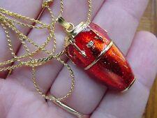 (M-317-C) pick 1 of 11 colors CONGA DRUM PENDANT jewelry NECKLACE drums SALE