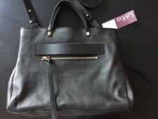 KOOBA RIDGEFIELD SATCHEL CROSSBODY BAG LEATHER Black $348