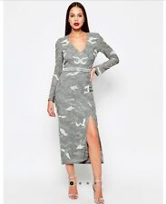 Dress 14 BNWOT Virgos Lounge Embellished Maxi Wedding Party Prom RRP £250 Grey