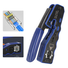 More details for pro hd crimping tool crimper for rj45 ez pass through cat 5 5e 6 7 connector lan
