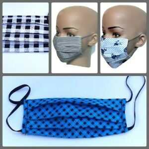 ❣Cotton fabric Face Masks Washable Reusable Breathable Adult Mouth Nose Covering