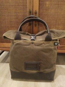 Jack Spade, Unknown Cargo Tote, Olive Waxwear/Leather Bag, NWOT $498