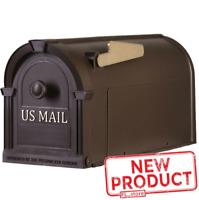 Large Post Mount Mailbox Hampton Bronze Durable Postal US MAIL Plastic No Rust