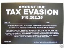 5pk Prank Neon Signs - TAX EVASION-QUARANTINED-ARREST-FORECLOSURE-INFESTATION