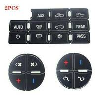 2 Radio & AC Dash Control Button Sticker Repair Decal fit for GM Chevrolet Decal