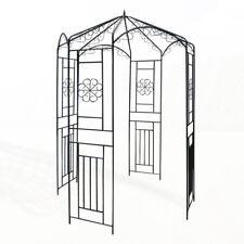 Metall Pavillon Rosenbogen Rankhilfe Rankgitter Pergola Torbogen Garten schwarz