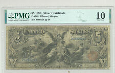 $5 Series 1896 Educational Silver Certificate in comment-free PMG VG 10 holder