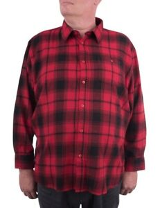 Maracheno Flannel Shirt, Red, XXL-8XL