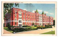 1938 Springfield College, Springfield, MA Postcard